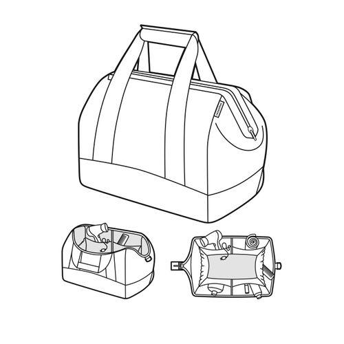 reisenthel allrounder M Reisetasche Tasche mixed dots punkte MS7051 – Bild 2