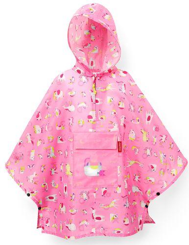 reisenthel mini maxi poncho M kids Regenjacke Regencape abc friends pink IG3066 – Bild 1