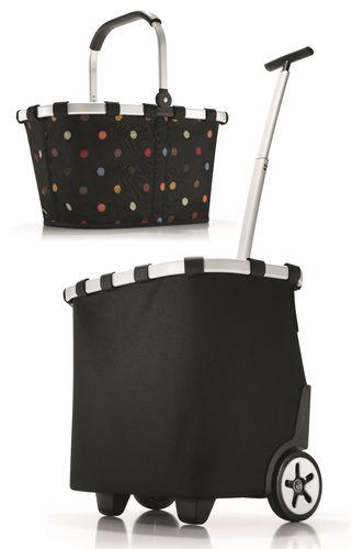 reisenthel Set carrycruiser + carrybag Trolley Einkaufskorb dots schwarz OE7003 + BK7009