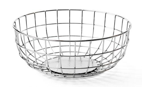 MENU Wire Bowl Korb Schale Dekoschale Metall silber chrom farben 9100039