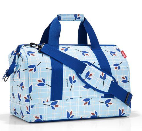 reisenthel allrounder L Reisetasche Tasche leaves blue blau MT4064