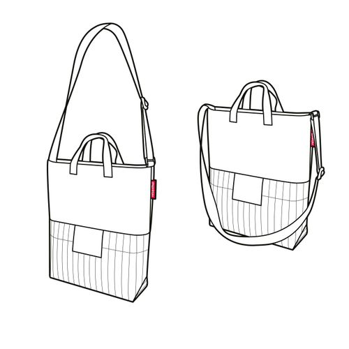 reisenthel urban shoulderbag london Einkaufstasche Tasche black white PV7049 – Bild 3