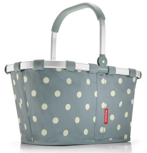 reisenthel SET carrybag Einkaufskorb Korb grey dots BK1009 + Cover schwarz BP7003 – Bild 2