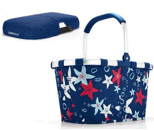 reisenthel SET carrybag Einkaufskorb Korb aquarius BK4050 + Cover blau BP4005 – Bild 1