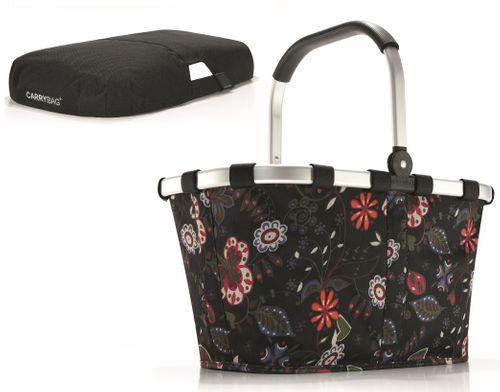 reisenthel SET carrybag Einkaufskorb Korb folklore BK7014 + Cover schwarz BP7003 – Bild 1
