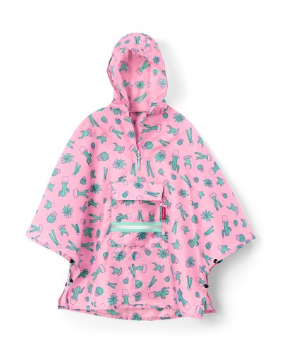 reisenthel mini maxi poncho M kids Regencape cactus pink rosa IG3055 – Bild 1