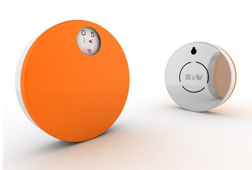 E&W Innenthermometer Thermometer orange magnetisch