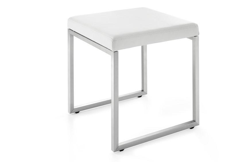 edelstahl hocker cenius badhocker stuhl lederhocker zack. Black Bedroom Furniture Sets. Home Design Ideas