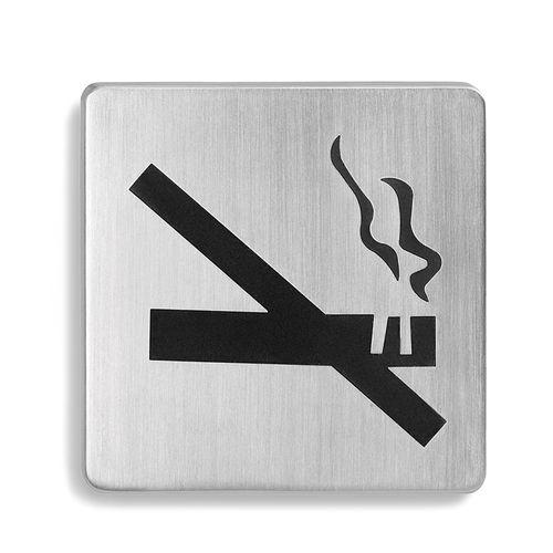 Edelstahl Türschild Rauchverbot, Nichtraucher, 68208, BLOMUS