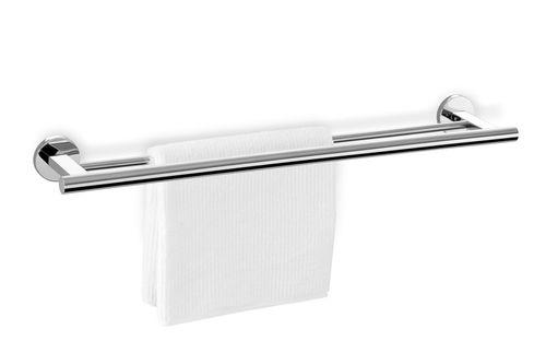 ZACK Edelstahl doppel-Handtuchstange SCALA Handtuchhalter 66 cm 40059