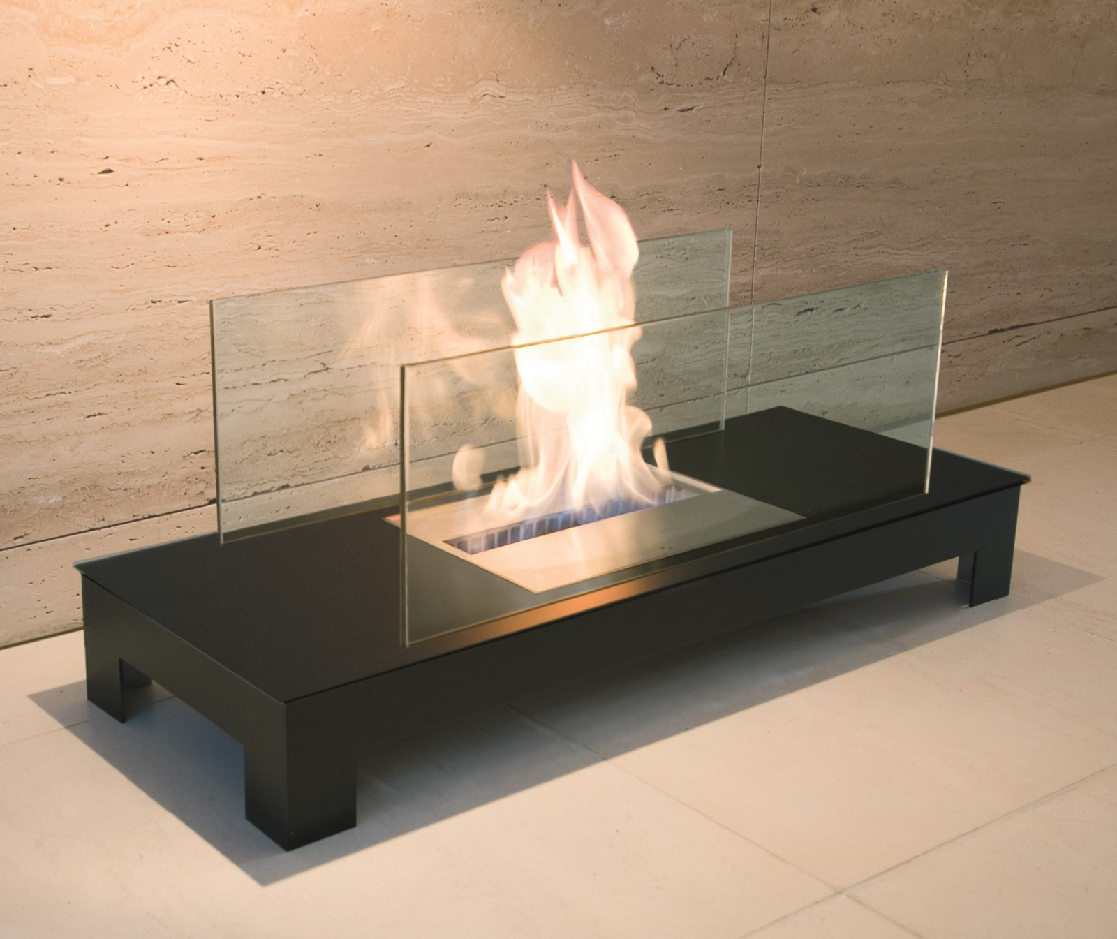 radius floor flame schwarz gelkamin kamin bio ethanol 537c wohnen sonstige wohnaccessoires. Black Bedroom Furniture Sets. Home Design Ideas