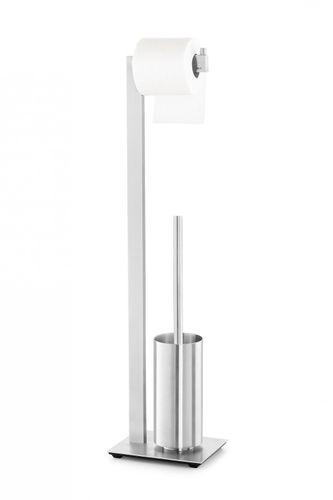 ZACK Edelstahl Toilettengarnitur LINEA WC-Bürste WC-Garnitur matt 72,5 cm 40382