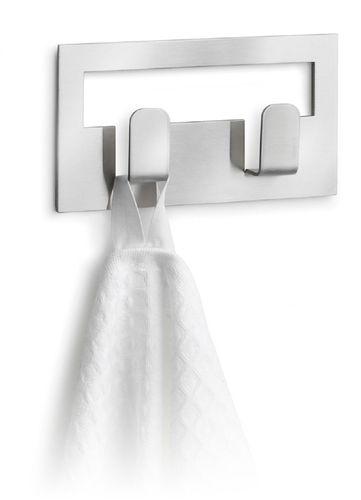 Edelstahl Doppel Handtuchhaken VINDO Handtuchhalter selbstklebend BLOMUS 68102 – Bild 1
