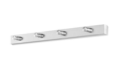Edelstahl Garderobenleiste ACCOLO 40 cm Wandgarderobe Garderobehaken ZACK 50657