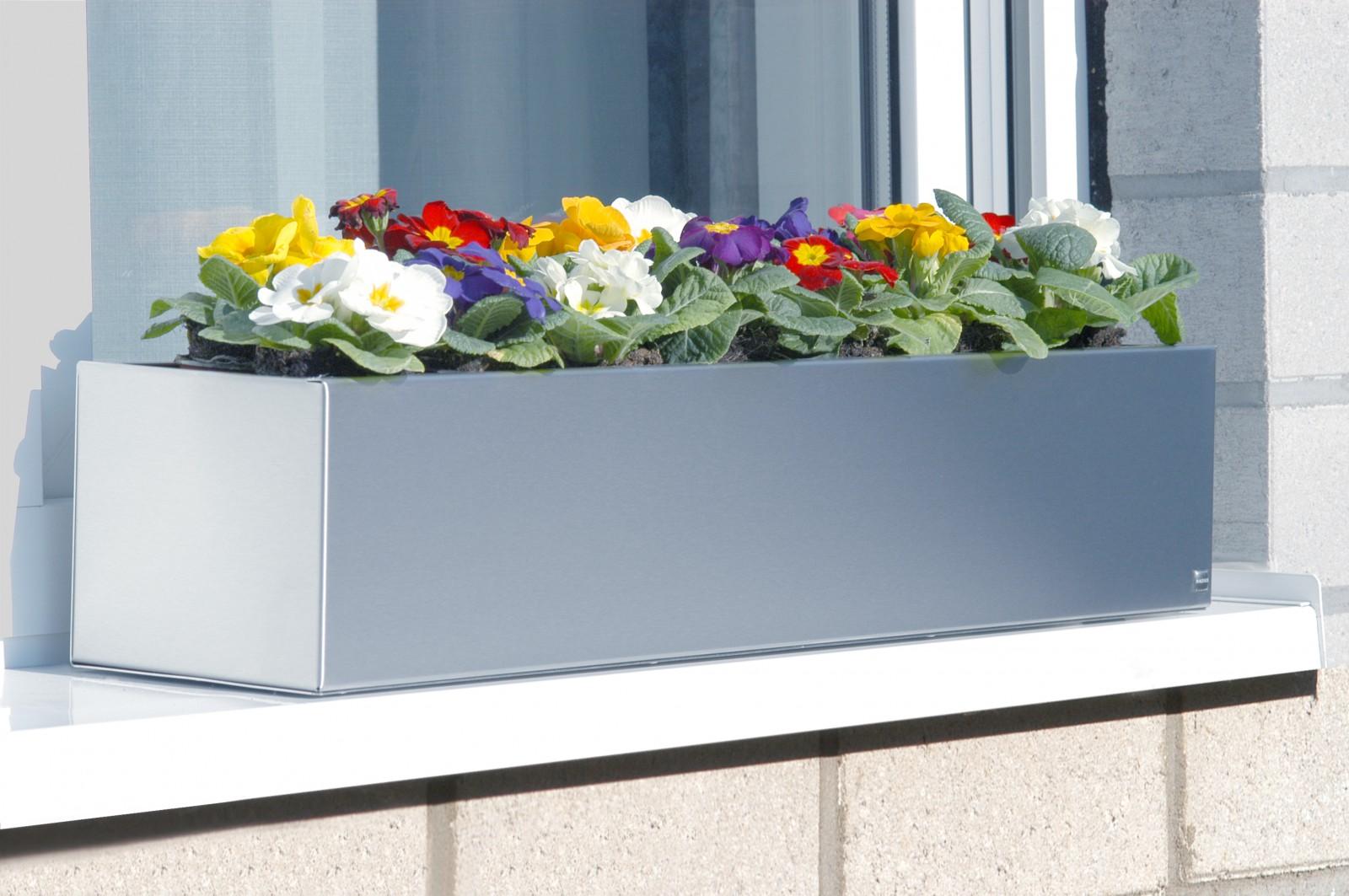 radius edelstahl blumenkasten pflanzkasten balkon 100 cm. Black Bedroom Furniture Sets. Home Design Ideas