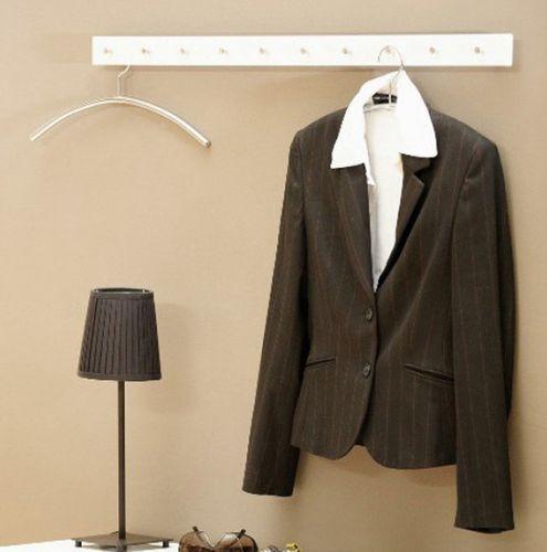 JAN KURTZ Garderobenleiste STRAIGHT Kleiderhaken Garderobe 100 cm schwarz 490330 – Bild 2