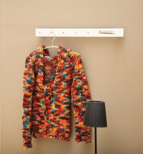 JAN KURTZ Garderobenleiste STRAIGHT 5 Haken + 1 Stange Garderobe 70 cm schwarz 490323 – Bild 2
