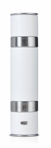 AdHoc Doppelmühle Duomill für Pfeffer und Salz weiss Gewürmühle MP90W