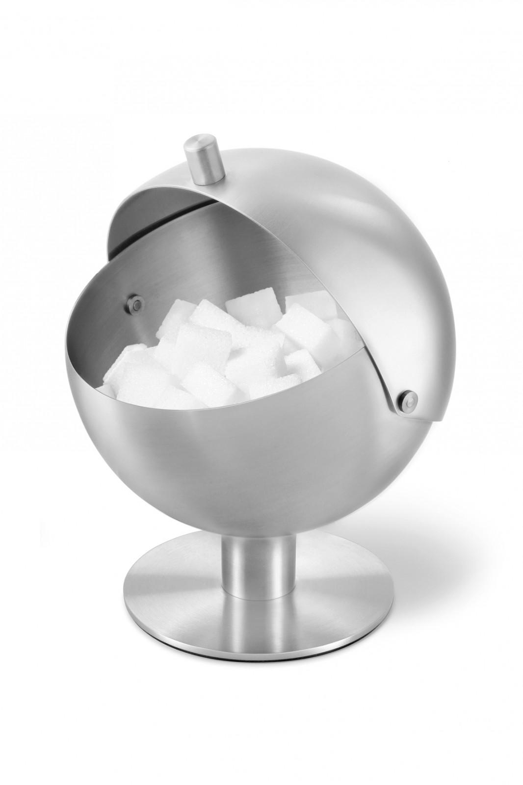 Zuckerdose Edelstahl zack edelstahl zuckerkugel sfera zuckerdose aschenbecher 30690