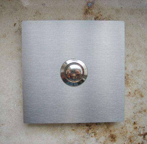 Edelstahl Klingel Klingelplatte Türklingel Taster quadratisch 7,5 x 7,5 cm