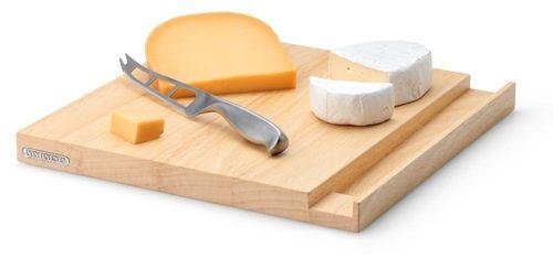 CONTINENTA Käsebrett mit Messer Brett Schneidebrett klein 3221 – Bild 2