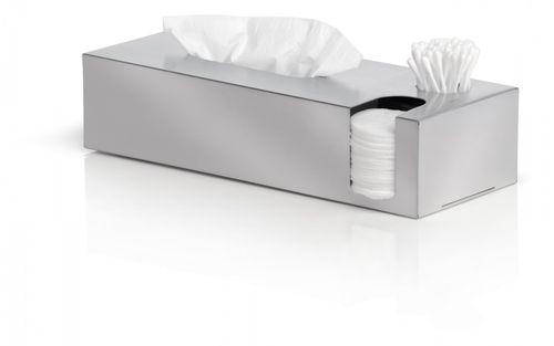 BLOMUS Edelstahl Box für Kosmetiktücher Wattestäbchen Wattepads Kombibox NEXIO 68689 – Bild 2