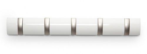 UMBRA FLIP HOOK 5er Garderobenleiste Hakenleiste weiß glänzend 318850-660 – Bild 1