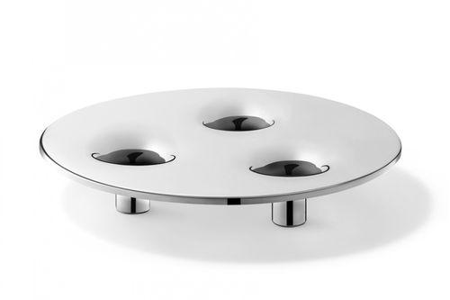 ZACK Edelstahl Kerzenhalter ALOMA Kerzenständer 24 cm 40632 – Bild 2