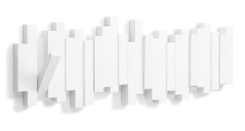 UMBRA STICKS MULTI HOOK 5er Garderobenleiste Hakenleiste weiß 318211-660 – Bild 3