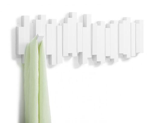 UMBRA STICKS MULTI HOOK 5er Garderobenleiste Hakenleiste weiß 318211-660 – Bild 1