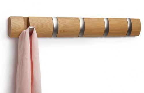 UMBRA FLIP HOOK 5er Garderobenleiste Hakenleiste natur 318850-390 – Bild 1