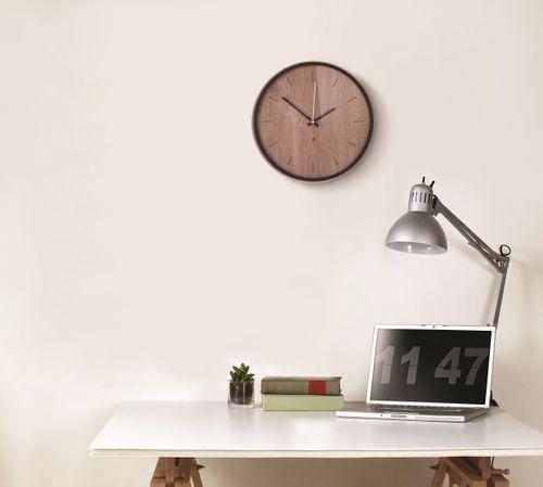 UMBRA MADERA WALL CLOCK Wanduhr 32 cm Uhr walnuss 118413-048 – Bild 2
