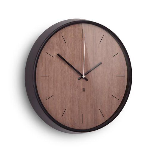 UMBRA MADERA WALL CLOCK Wanduhr 32 cm Uhr walnuss 118413-048 – Bild 1