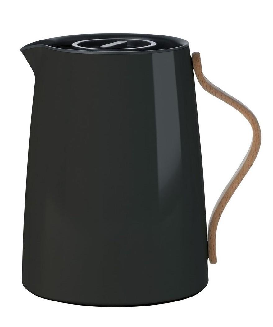 stelton teeisolierkanne emma isolierkanne teekanne schwarz. Black Bedroom Furniture Sets. Home Design Ideas