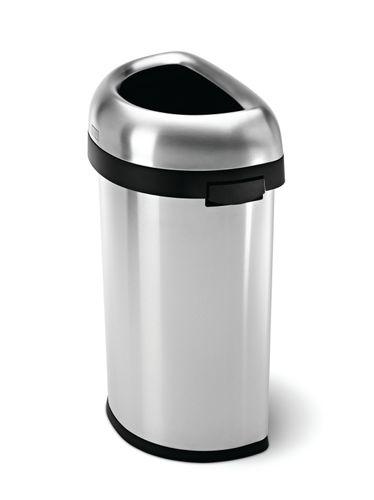 simplehuman halbrunder offener Abfalleimer Mülleimer 60 Liter CW1468