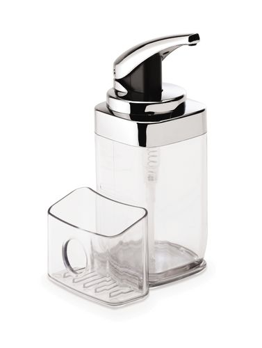 simplehuman Chrom Pumpspender + Caddy Seifenspender Spülcaddy 650 ml KT1159