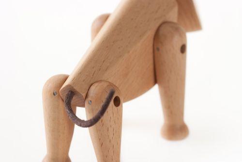 ARCHITECTMADE Holzfigur OSCAR Hund Holzhund 11 cm 340 – Bild 4