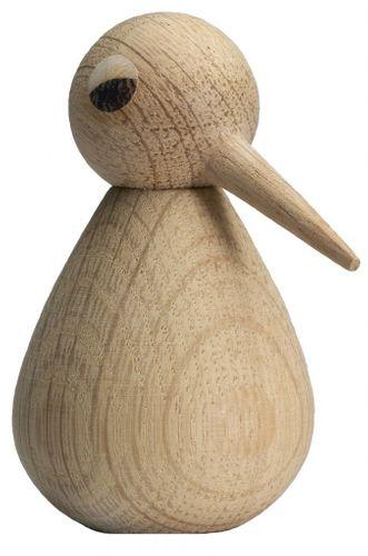 ARCHITECTMADE Holzfigur BIRD large Vogel Holzvogel groß Eiche natur 12 cm 415 – Bild 1