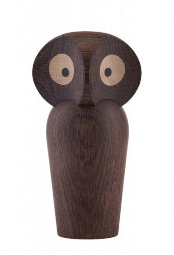 ARCHITECTMADE Holzfigur OWL small Eule Holzeule klein Eiche dunkel 12 cm 465