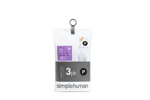 simplehuman Müllbeutel Nachfüllpack 60 Stück CODE P 50-60 Liter CW0263