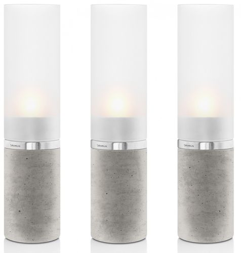 BLOMUS Beton Windlicht 3 er Set FARO Teelichthalter 21 cm 65440 – Bild 2