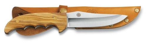 VICTORINOX Taschenmesser Outdoor-Messer S Messer inkl. Lederscheide 4.2252