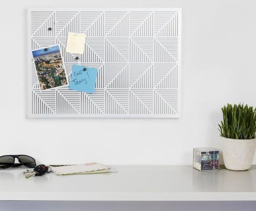 UMBRA Pinnwand Trigon Magnettafel Anschlagtafel Tafel weiß 470790-660 – Bild 3
