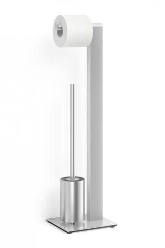 ZACK Edelstahl Toilettenbutler ATORE WC-Butler WC-Garnitur Garnitur 40417 – Bild 1