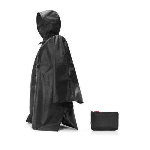 reisenthel mini maxi poncho Regenjacke Regencape faltbar schwarz AN7003 – Bild 1