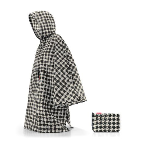 reisenthel mini maxi poncho Regenjacke Regencape faltbar fifties black AN7028 – Bild 1