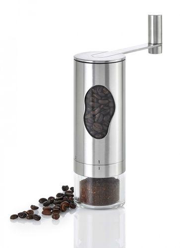 AdHoc Design Kaffeemühle Mrs. BEAN Handmühle Mühle Edelstahl/ Acryl MC01 – Bild 1