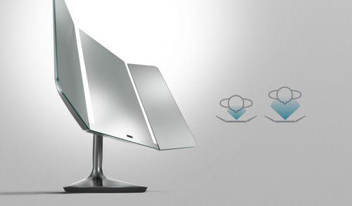 simplehuman Sensorspiegel Kosmetikspiegel Standspiegel 10fach vergrößert ST3014 – Bild 2