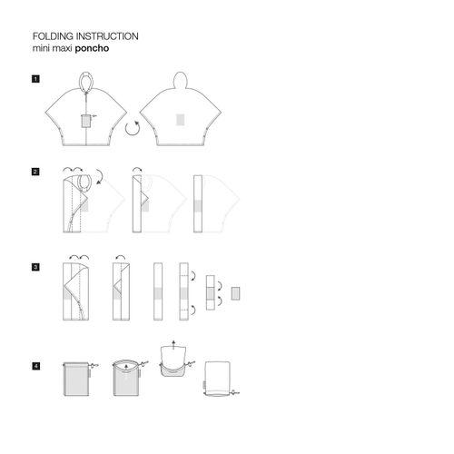 reisenthel mini maxi poncho Regenjacke Regencape faltbar artist stripes AN3058 – Bild 4