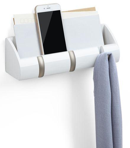 Umbra Cubby Mini Organizer Garderobenleiste Hakenleiste Holz weiß 1004250-660 – Bild 2